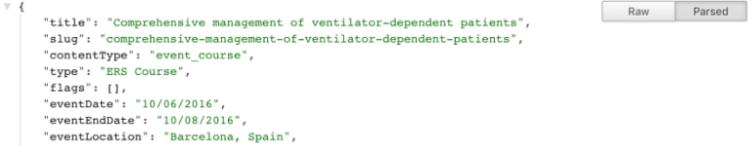 Fig. 2 – Partial JSON response