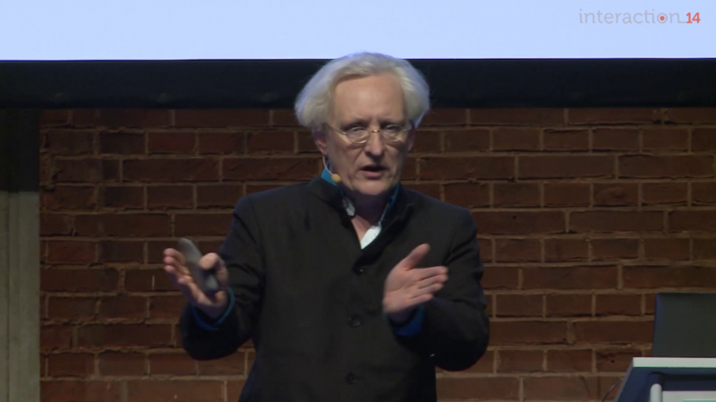Steven Pemberton speaking at Interaction14 on  The Computer as Extended Phenotype