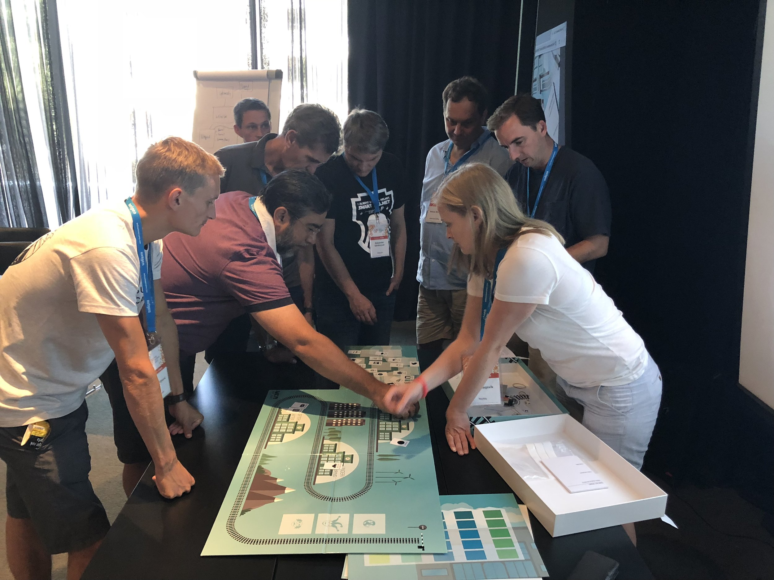Playing the service design board game at Web Summer Camp 2018