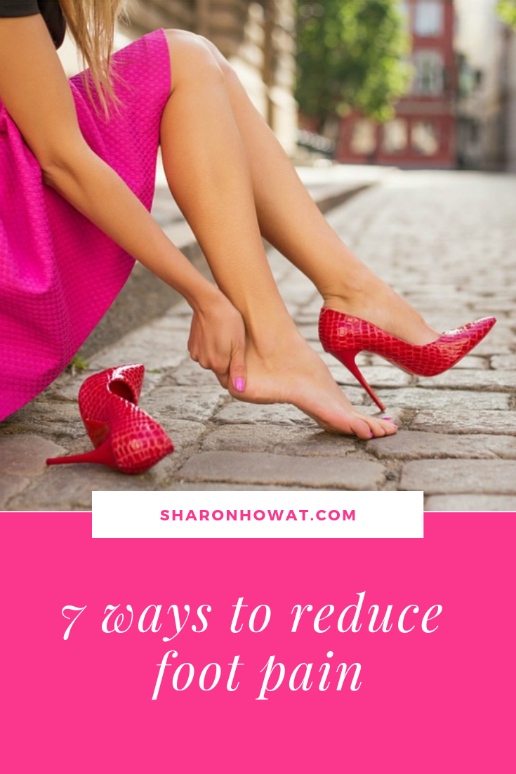 7 ways to reduce foot pain. Because we all spend so much time on our feet, this is an even bigger reason why we should be looking after them. This article is going to share with you, seven tips for gorgeous feet.  #gorgeousfeet #footcare # pamperedfeet '#'footspa #podiatry #footache #sorefeet #footpain