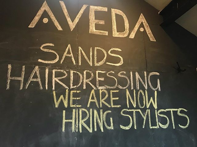 We are hiring! Come and join our team. Contact us on 02920464611 Email at info@sands-hairdressing.co.uk 💇‍♀️