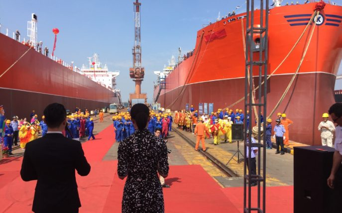 From the Naming Ceremony of Combination Carriers MV Balboa and MV Baffin in May 2017