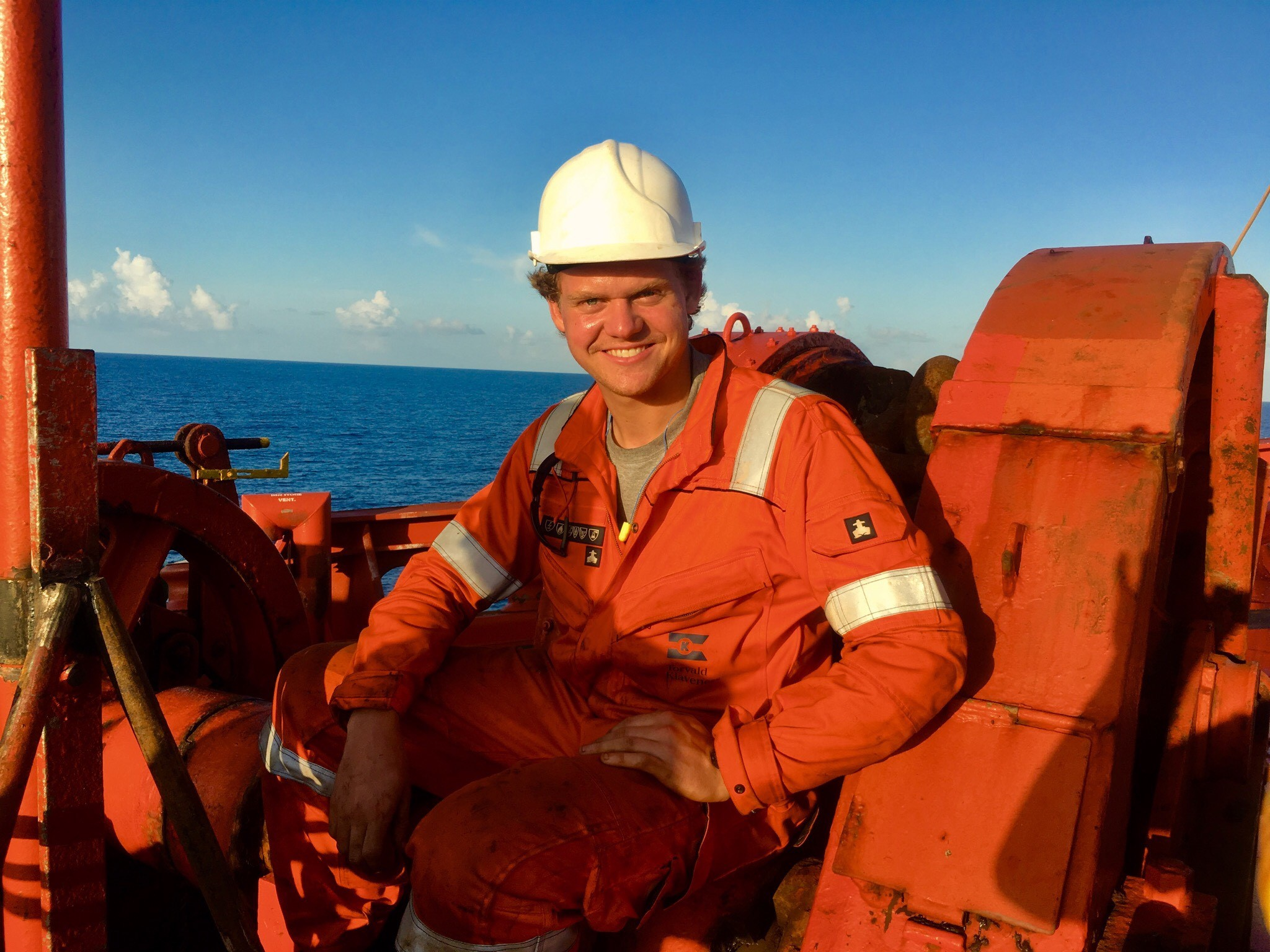 Travelling summer intern Jean Sissener on board combination carrier