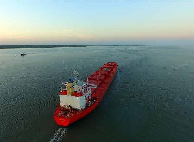 Photo: MV Barcarena on its way to discharge CSS at Alumar, São Luis in North Brazil.