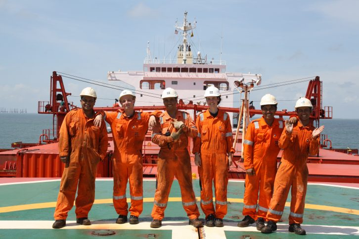 From left John Vincent, William, Richard, Ingvild, Joseph and Christian. Credit. Klaveness