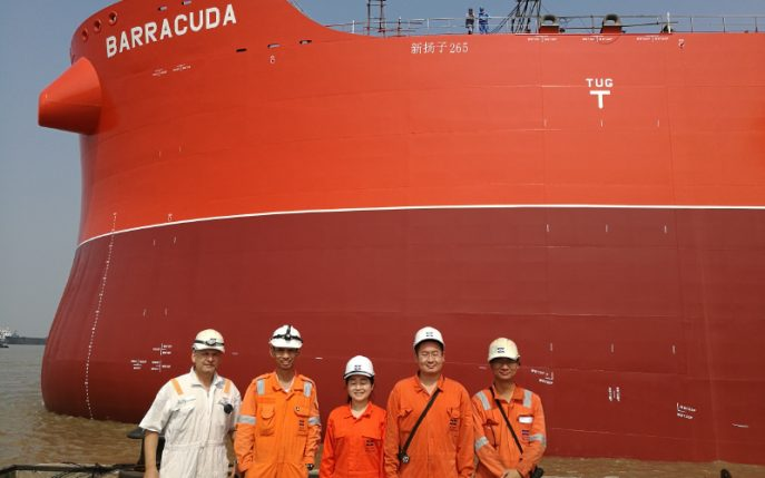 Photo: from the launch of MV Barracuda Credit: Klaveness