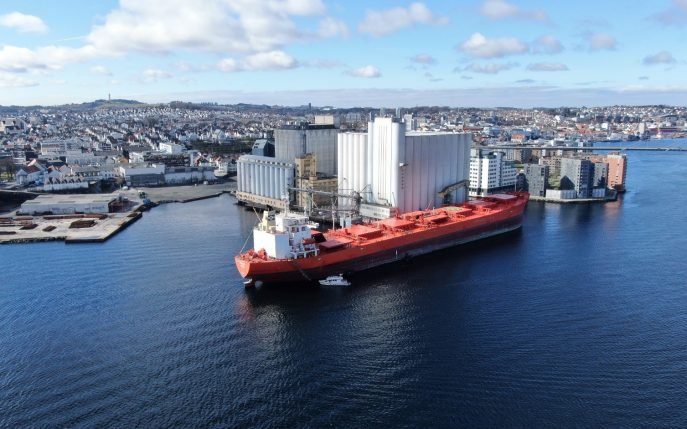Photo: The MV Bakkedal docked in Stavanger
