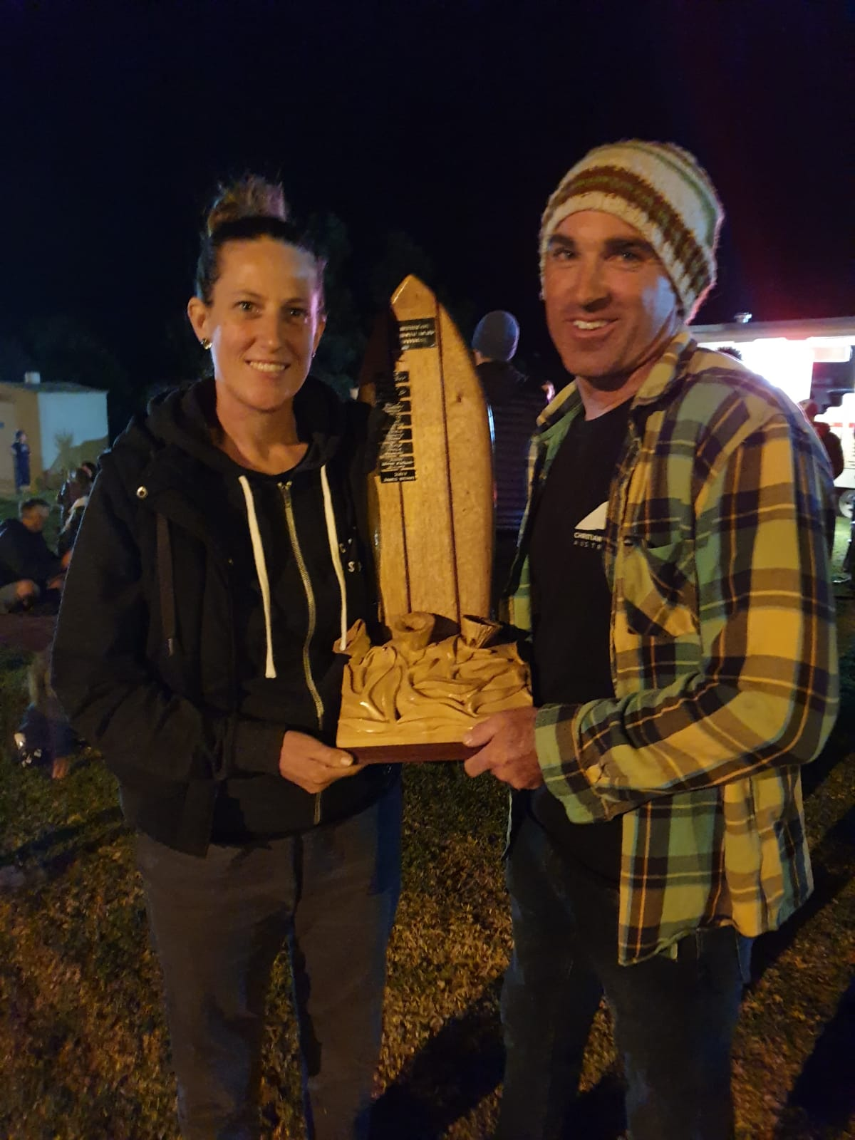 We had the honour of winning the Surfing SA Christine Cox Memorial Award for 2018. This award for the contribution for the work we have done for Surfing SA and the surfing community