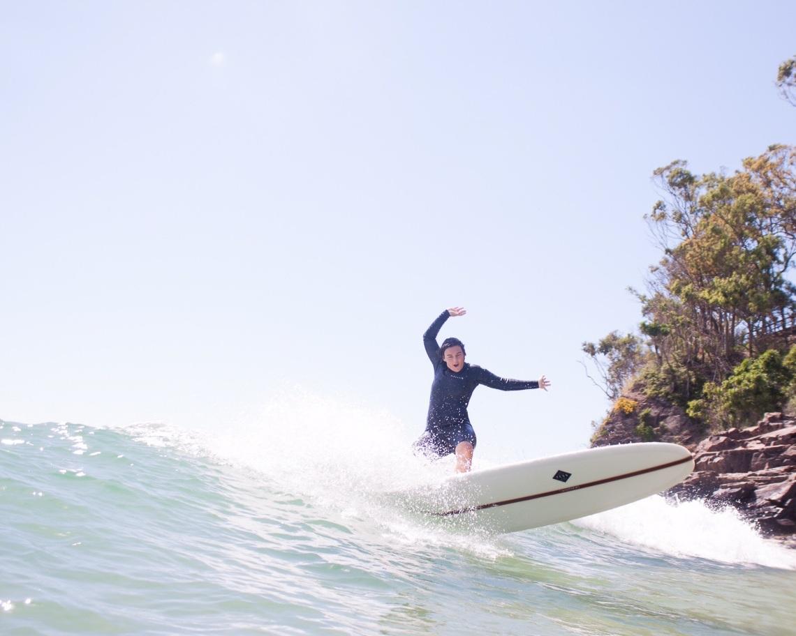 Jessi enjoying a wave