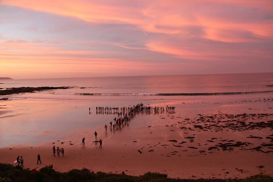 Dawn service & paddle out - Easter 2019 National Gathering