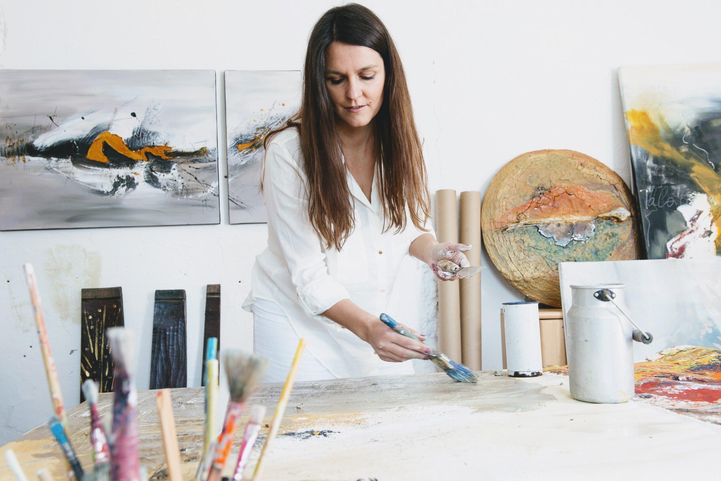 """""""Intuitive Kunst"""" nennt Bangerl ihr Genre. Foto: Hans Kogler"""
