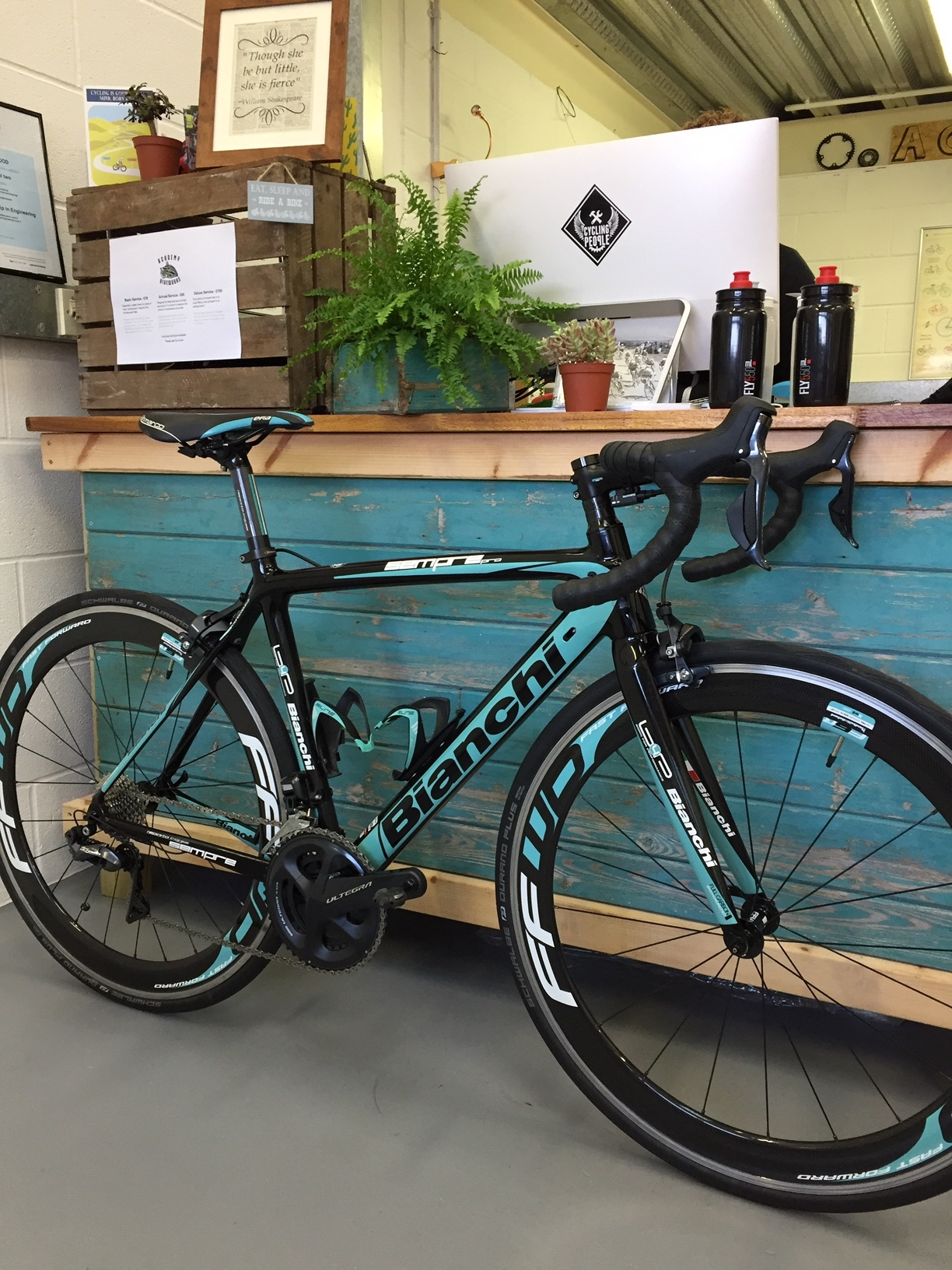 Our recent Di2 install for a customer of ours! The Di2 upgrade was a treat for himself (and his best bike). If you're thinking of upgrading to Di2 pop in with your bike and we'll go through your options as well as answer any questions you may have.