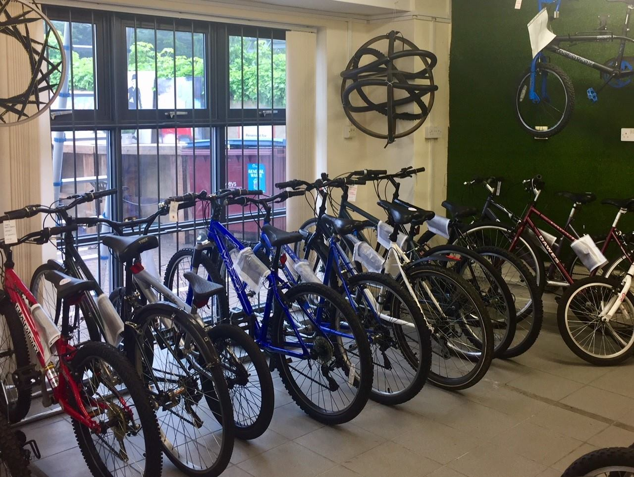 A selection of bikes for sale following the refurbishment and repair carried out by people working at Recycle Your Cycle workshops. Photo credit -  Recycle Your Cycle