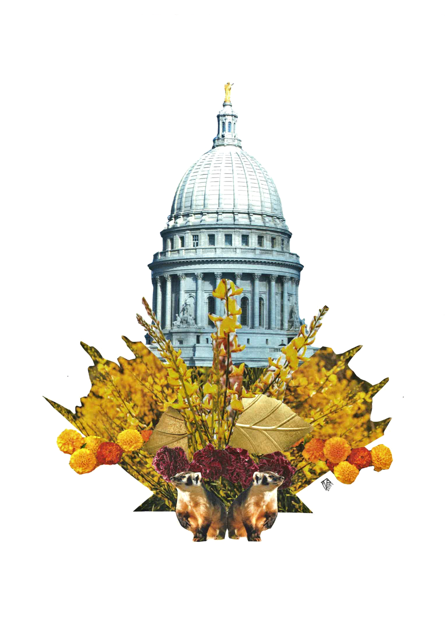 Capitol Seasons: Fall, 11x14, 2017