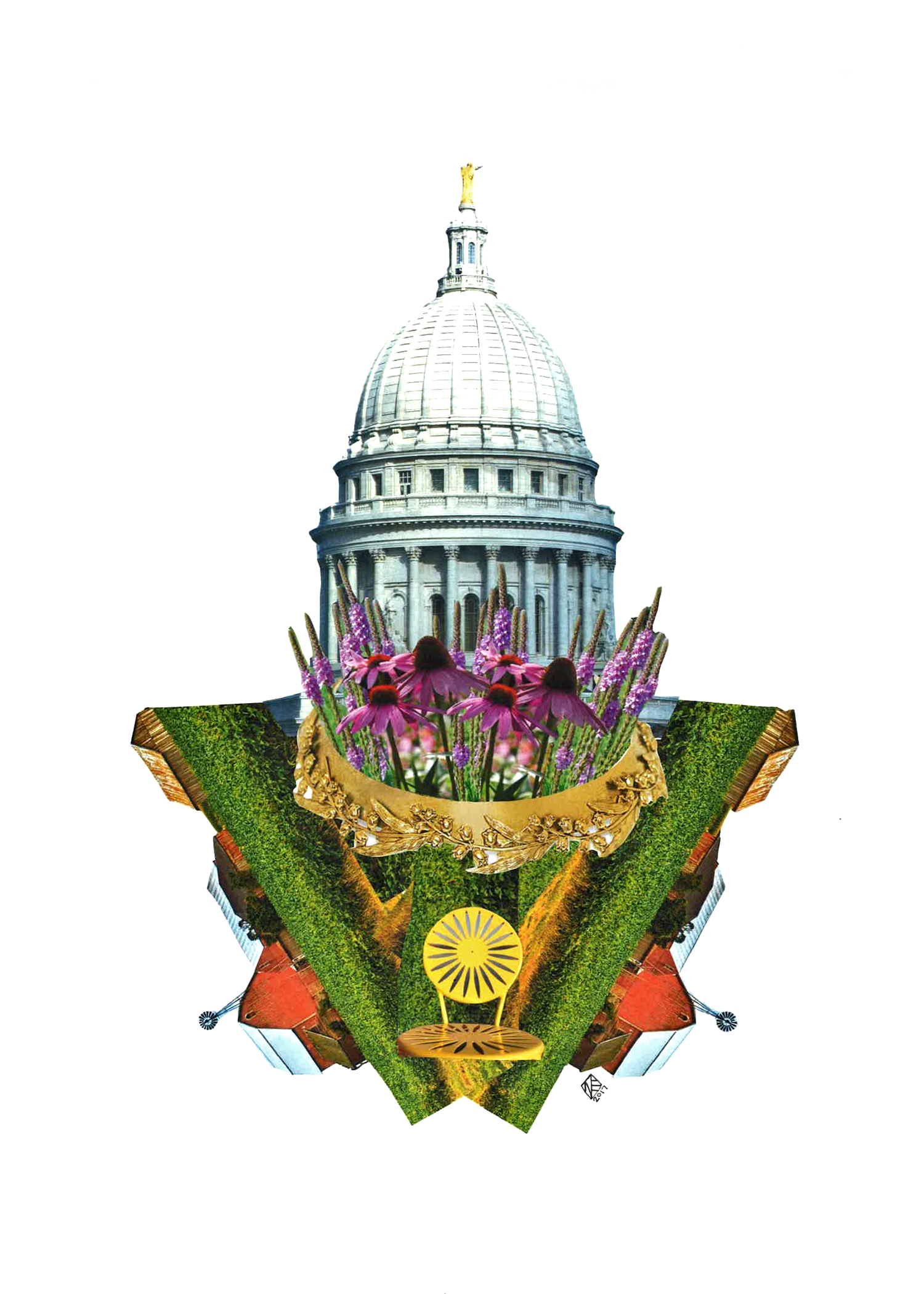 Capitol Seasons: Summer, 11x14, 2017