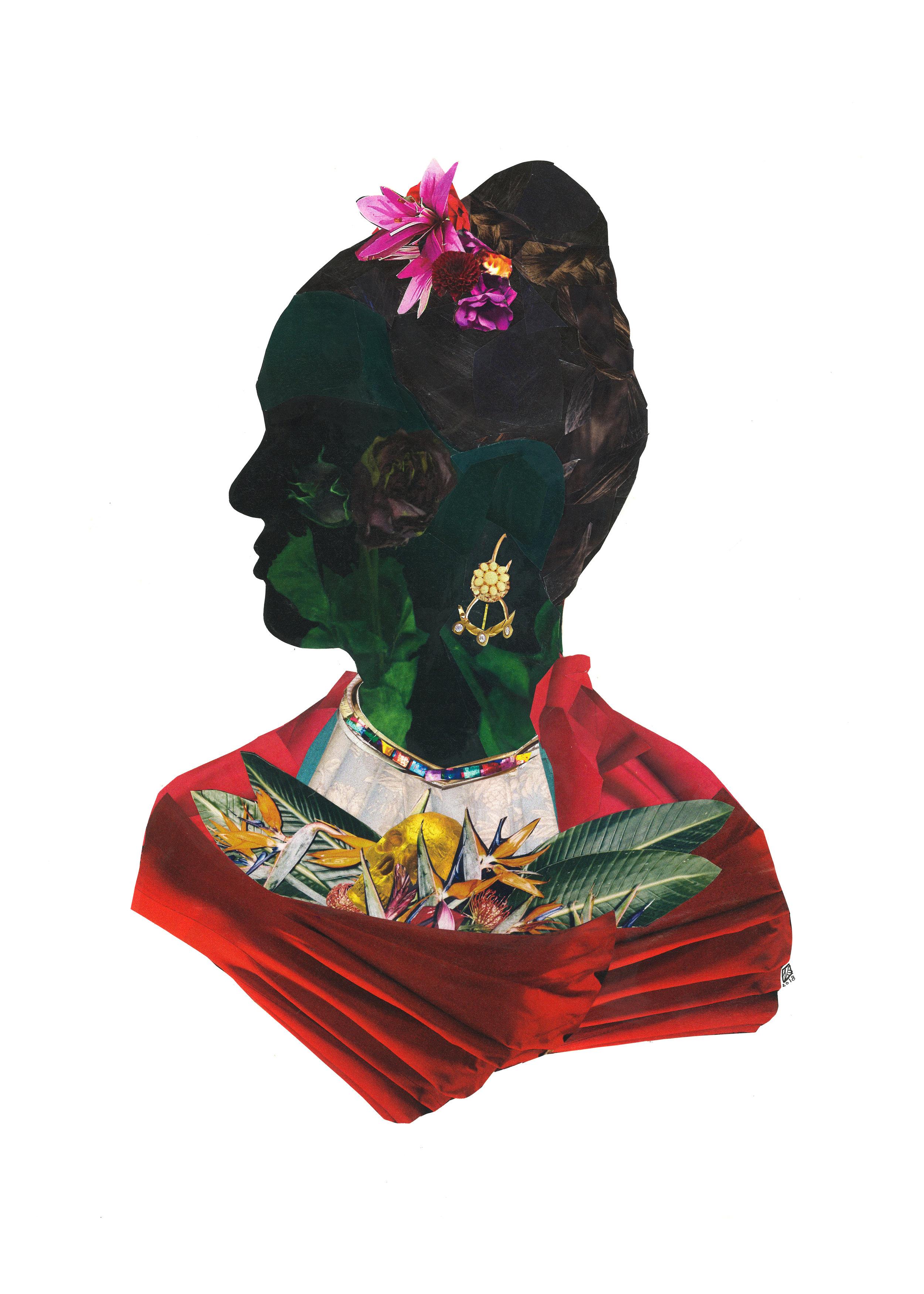 La Heroina Del Dolor, Frida, 11x14, 2018
