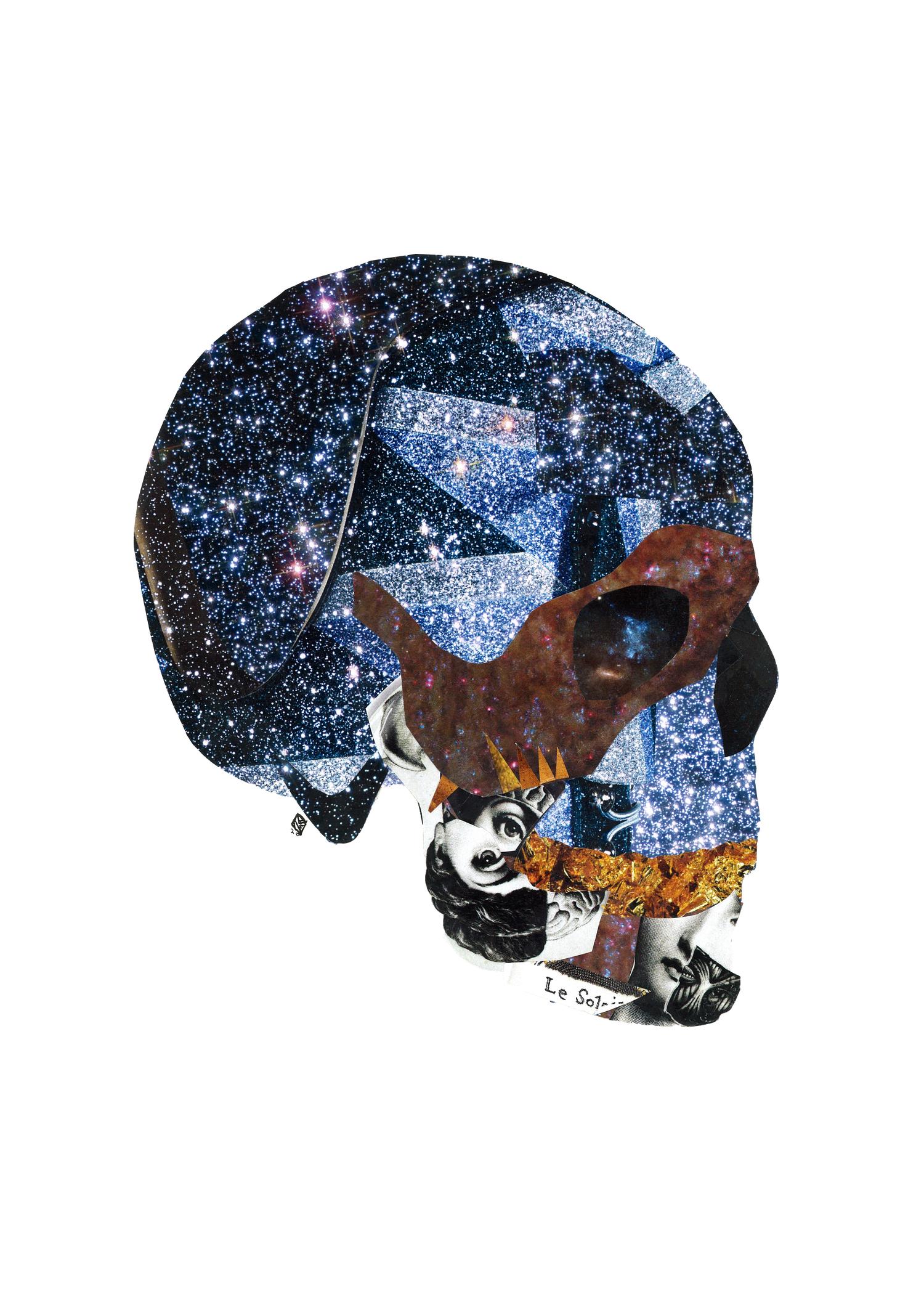 Celestial Skull, 11x14, 2018