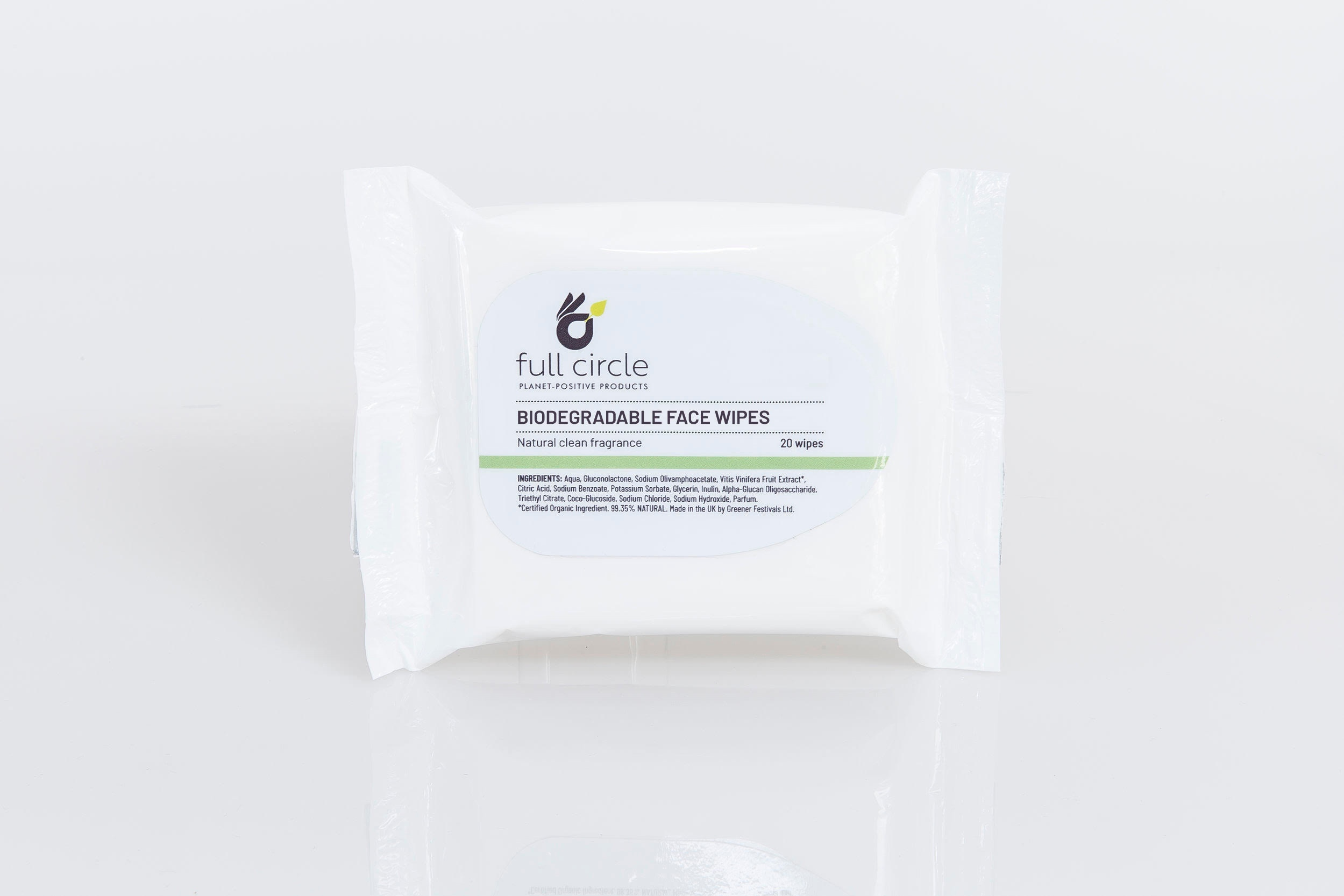 20 x Plastic Free Biodegradable Face Wipes