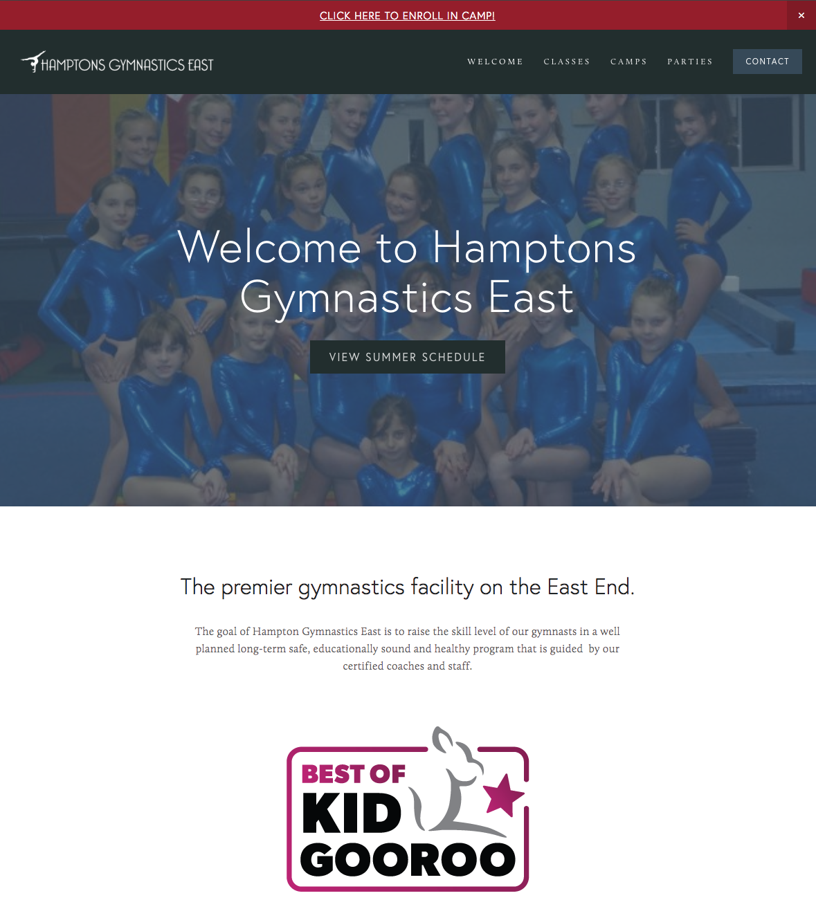 Hampton Gymnastics East Website