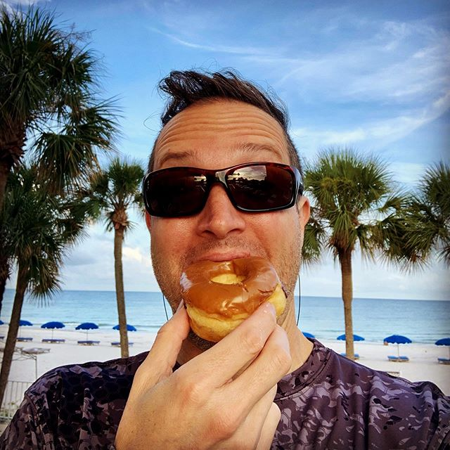 """First donut of summer... I know it's not the @bulletproof way, but the ROI on the family Summer Tradition of """"first morning """" #lighthousedoughnuts is higher than the sugar content of the actual #doughnuts 😋  #Ignite #GetTurnedOn  #ExpandProbability  #ExperienceEngineering #SoundSessions #ReleaseAndReceive  #TheBigTurnOnPodcast  #Love #eleven11Life  #समिन्धे  #सत्य #समिन्धेसत् #1111๛"""