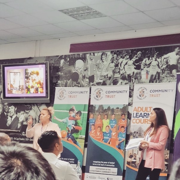 Thank you to @ltfc_official for inviting Meaningful Education to present on the impact of #KnifeCrime on #mentalhealth at the  Youth Violence presentation afternoon that took place on Thursday 11th July 2019. Fantastic afternoon with @chalkhillsacademynews being the winners of the competition.  #knifecrime #competition #luton #pledge #lutontownfootballclub #community #prevention #intervention #schools #presentations