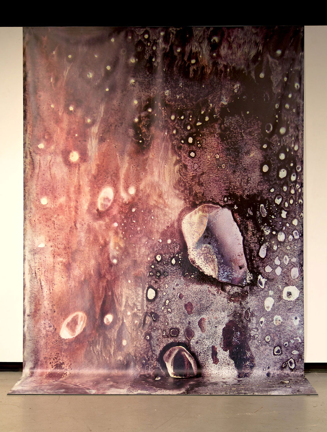 Displace (Panel 03), 2013, 12 ft x 6 ft, mixed media, ink, archival print on vinyl
