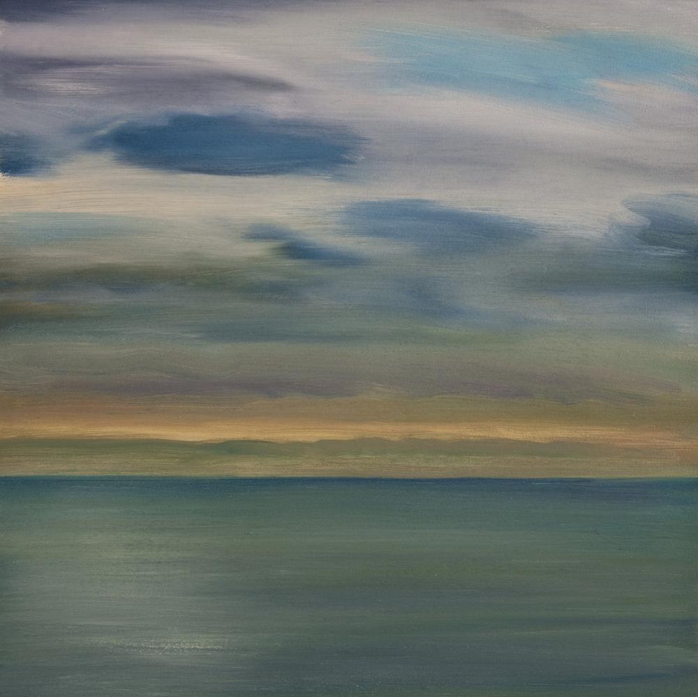 "Atlantic Dawn, Oil on Canvas, 16 x 16"""
