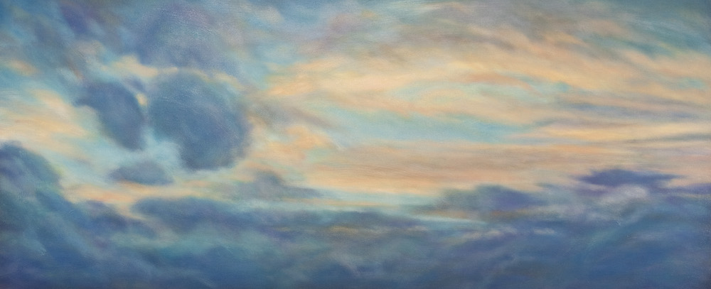 """After the Storm, Oil on canvas, 30 x 72"""""""