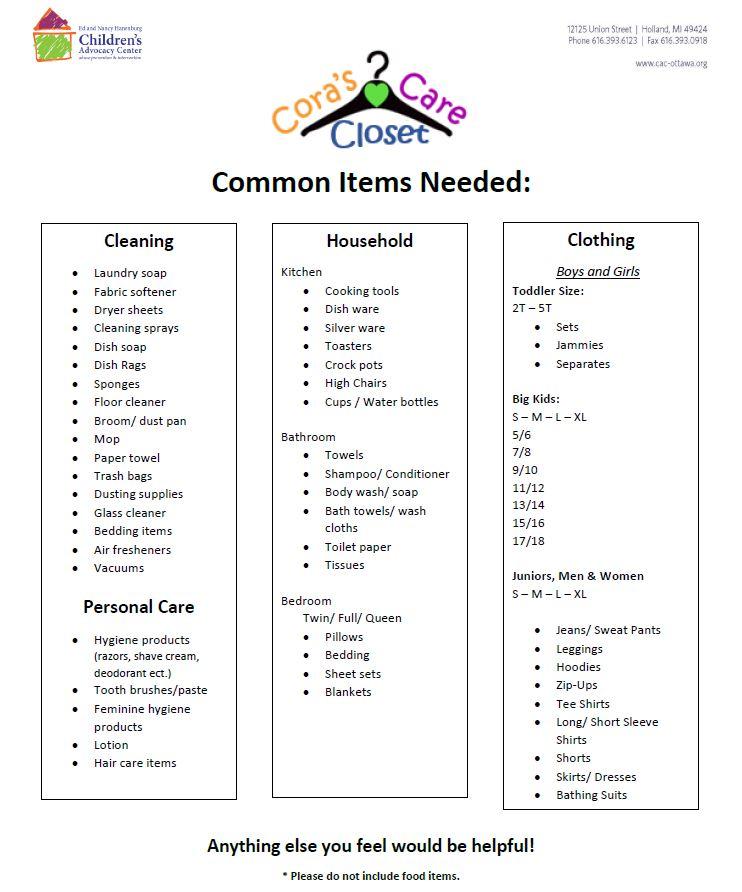 Care Closet Items.JPG