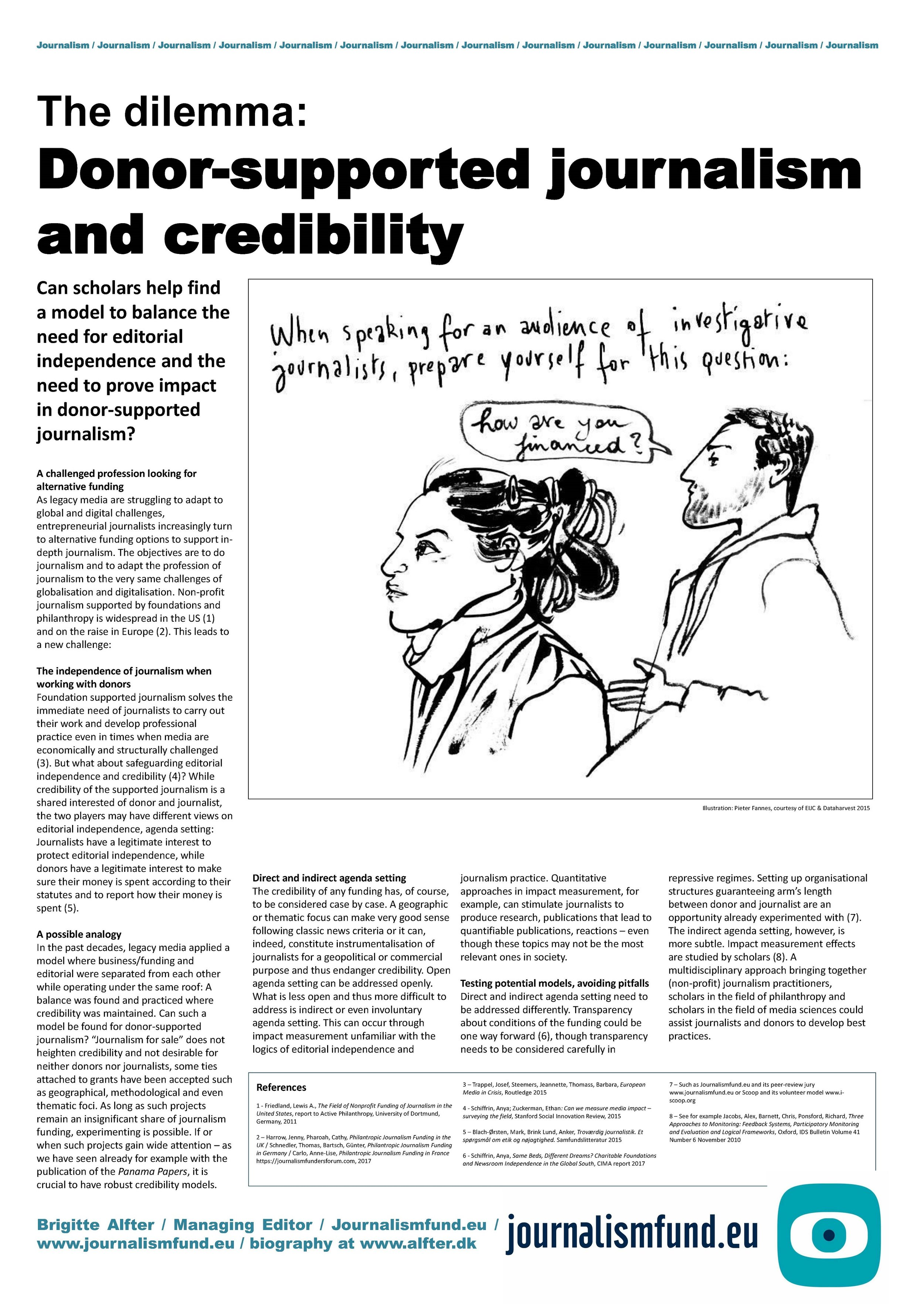 Brigitte Alfer - The dilemma: Donor-supported journalism and credibility