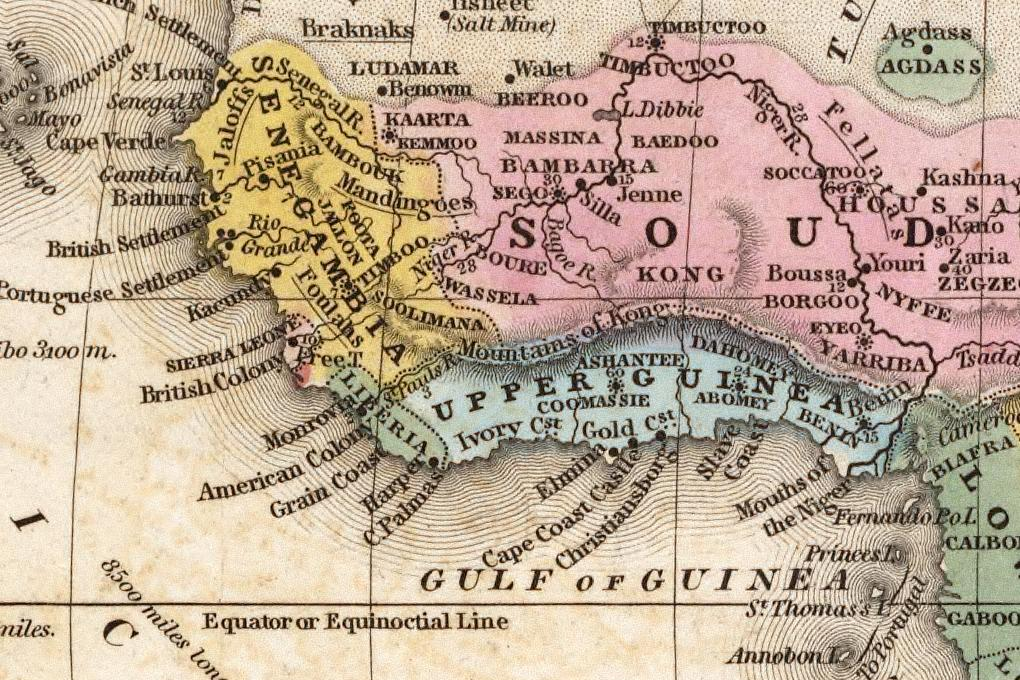 Figure 2: Detail of Upper and part of Lower Guinea