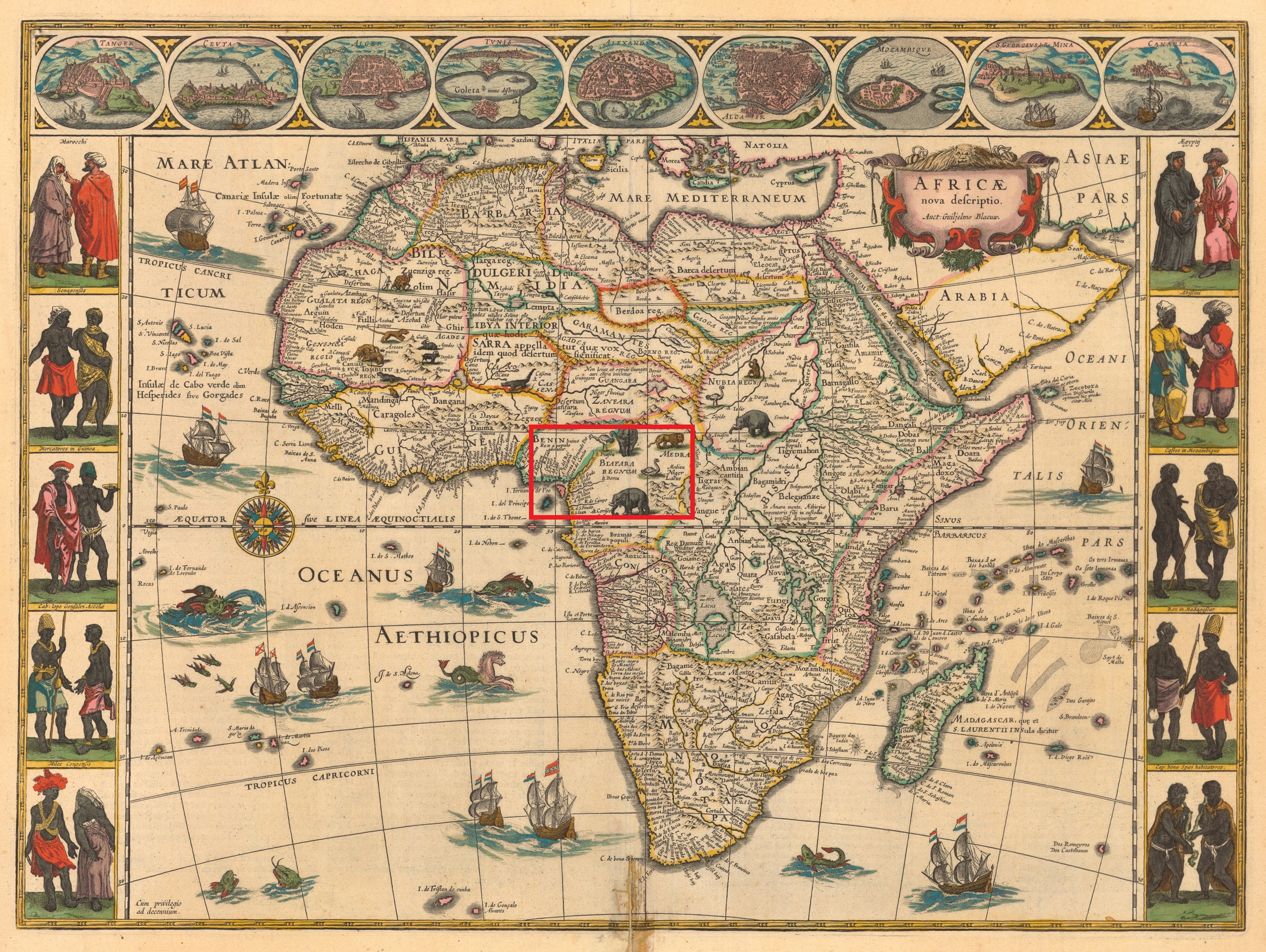 Figure 4: Africa Map published by Willem Blaeu(1644)