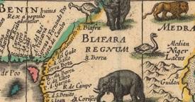Figure 5: Detail of Biafara on Willem Blaeu Africa Map