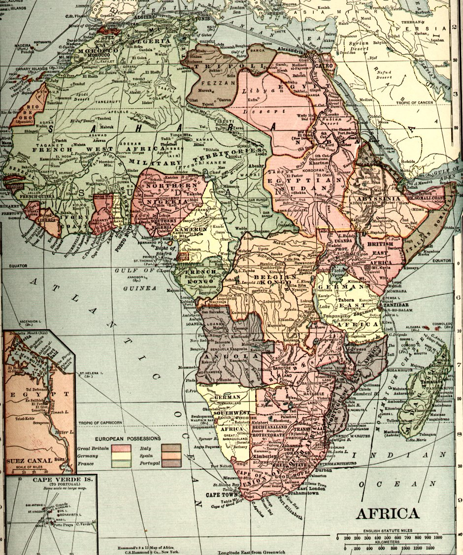 Figure 6: Map of Africa published by C.S. Hammond & Company 1910