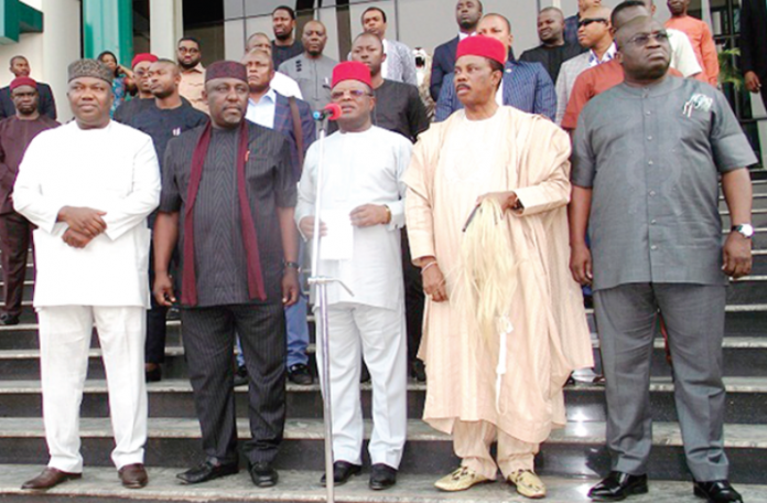"""""""Governors"""" of Nigeria's South East geopolitical zone"""