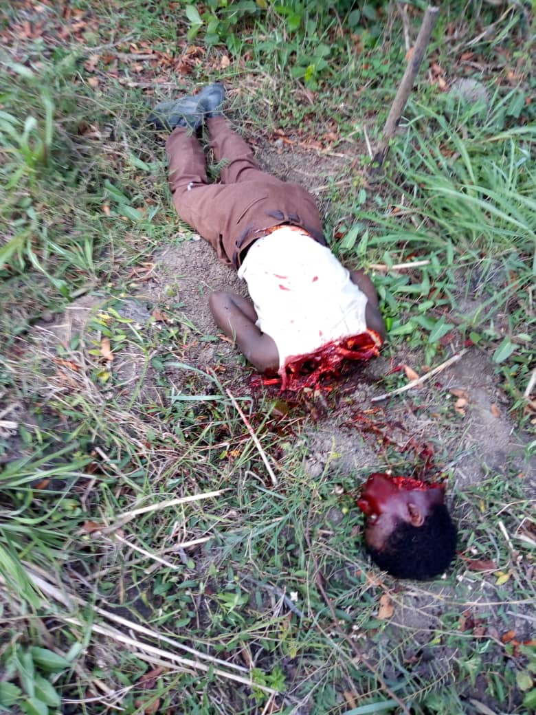 Decapitated victim of the Fulani Herdsmen attack on Anambra West local government