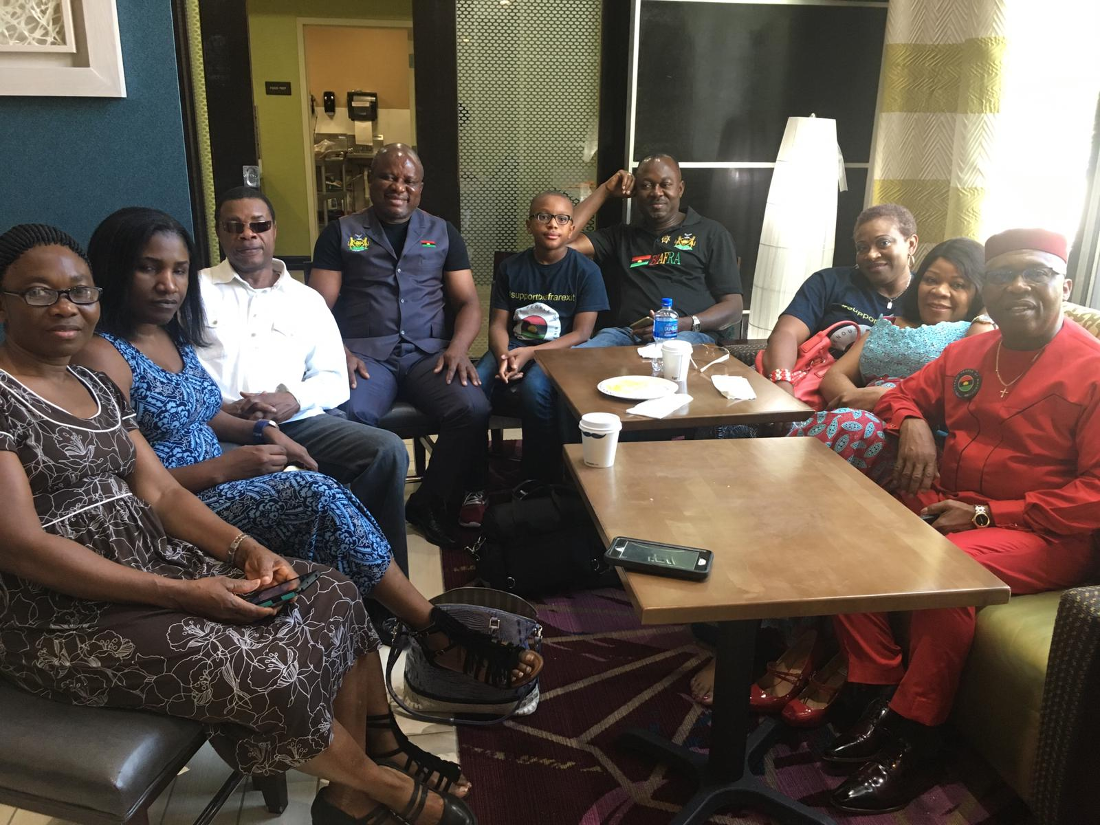 IPOB Houston Leadership conducts a brief meeting during Director Nnamdi Kanu's visit on June 22, 2019