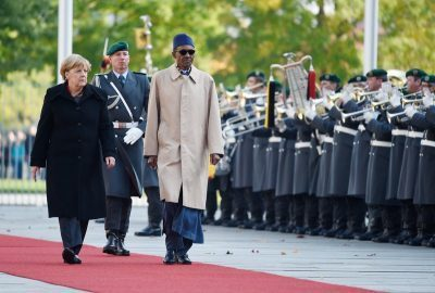 Mohammadu Buhari in Germany in 2016