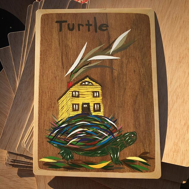 Always home .:. /\ just re picked turtle for the 3rd time. Saw 3 tortoises before leaving for @wildlifefreeway music tour. I wonder if you ever get the same card over and over ? or repeated visitations from certain Animal teachers.. #animalmedicinecards #turtlewisdom #animalwisdom #animalcards #tortoisewisdom #animaltarotcards
