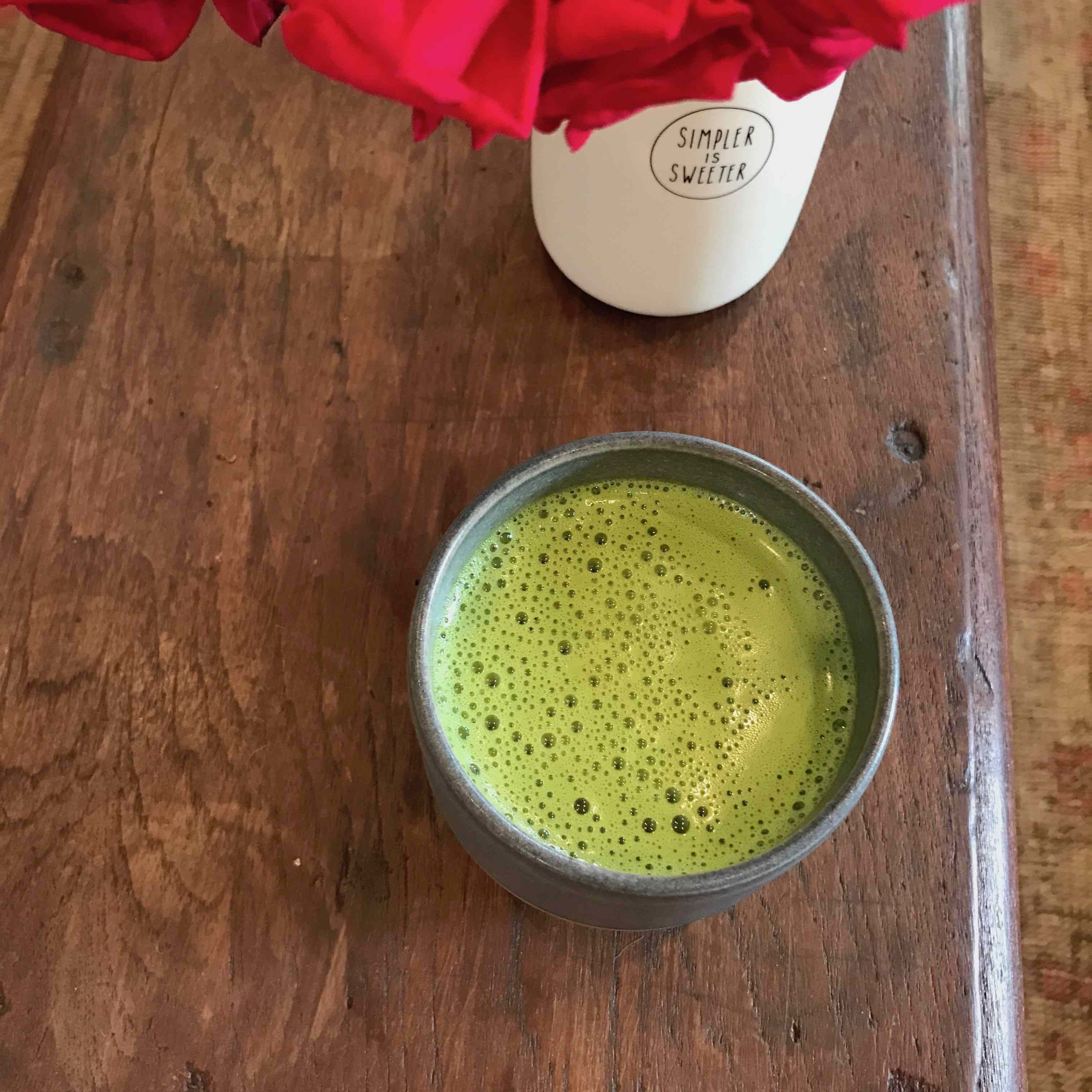 Delicious matcha tea latte gives me energy and a host of other benefits