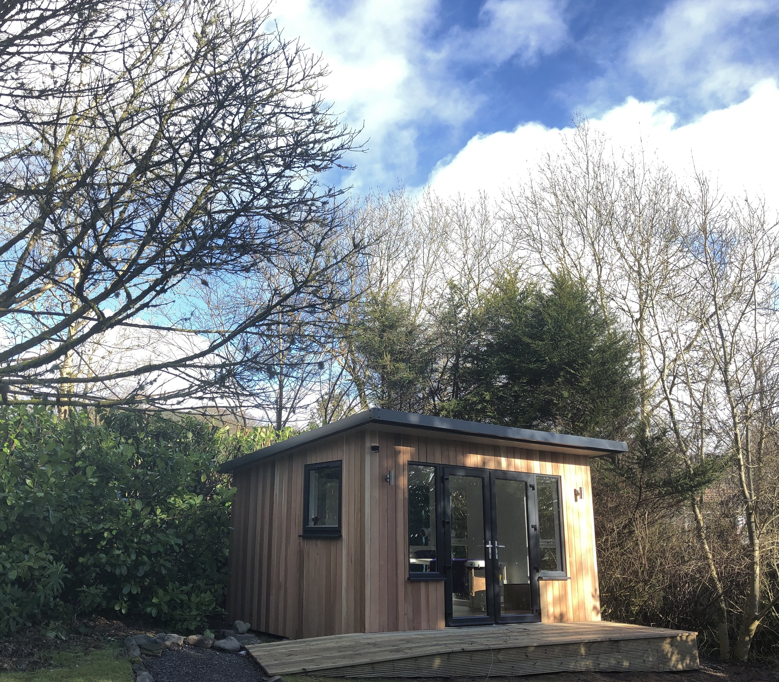 Acupuncture garden room clinic in Moffat