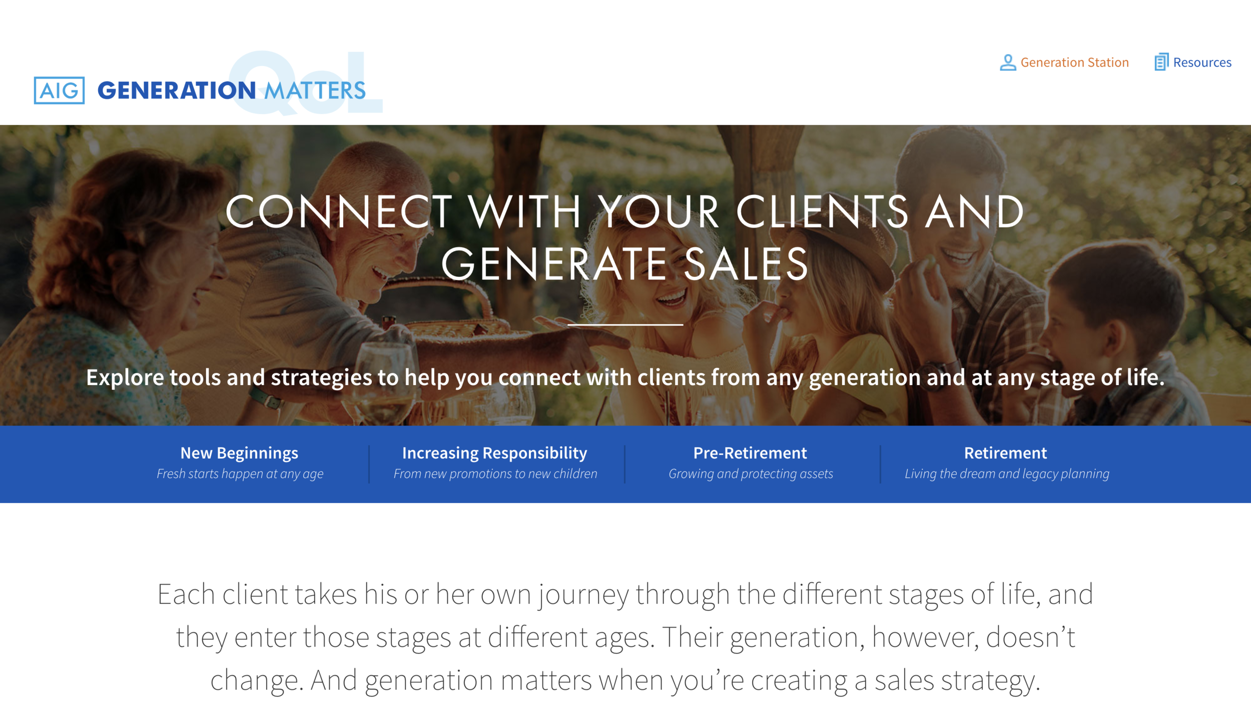 Generation Matters - Connect with clients and prospects of any age, any phase of life. Tips, strategies and materials to help you be generationally correct.