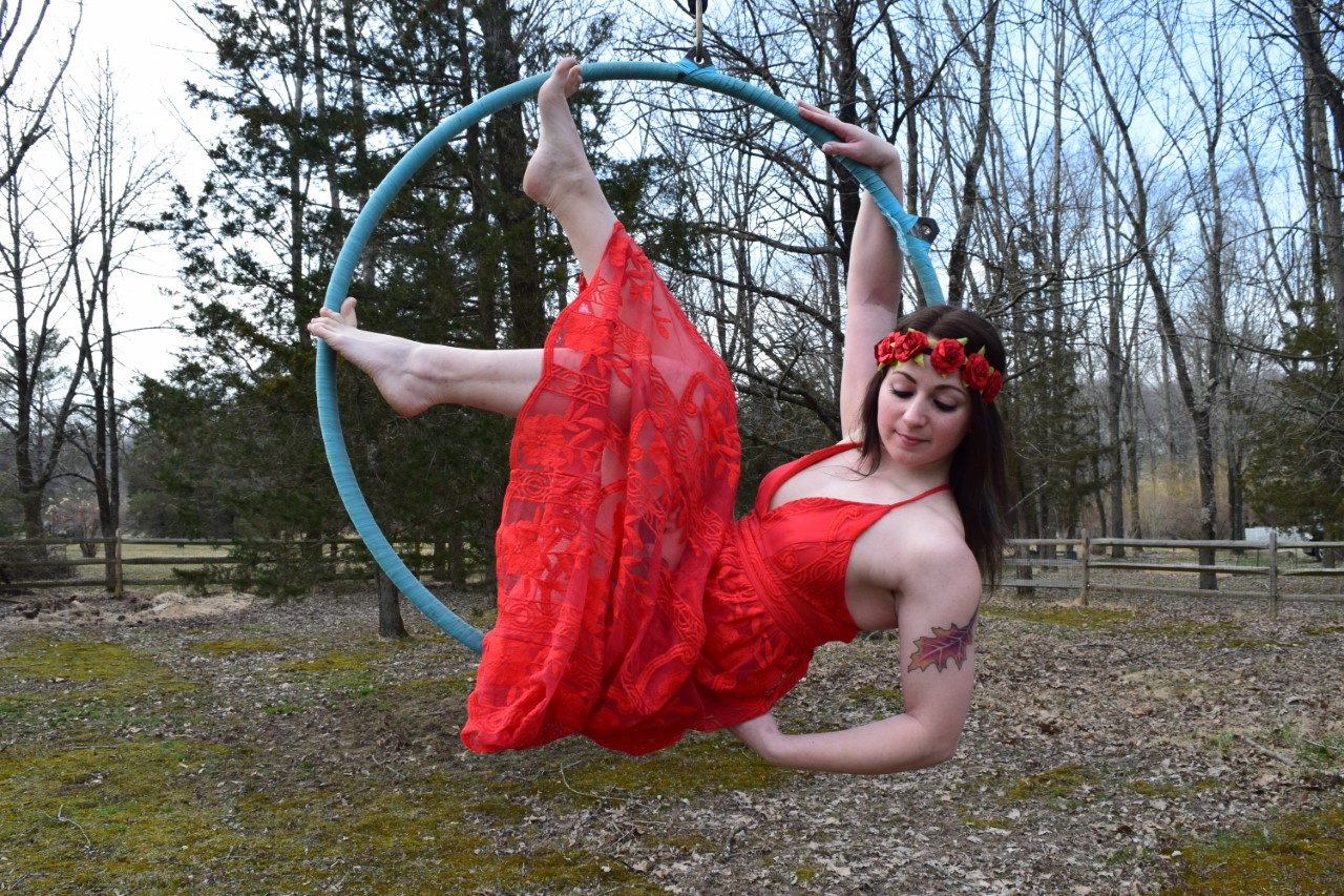 Performer:Stefana - Stefana has been a lover of dance and theatre since she was a child. Throughout high school and college she took dance lessons at her local studio, was a member of Lock Haven University's Dance Company, and was cast in two major theatre productions. In 2014 she discovered aerial arts and instantly fell in love. Since then she has engulfed herself in pole fitness and lyra, and within the last two years she has been teaching herself hula hooping and acroyoga. This past August she was offered a teaching position at the Pennsylvania Pole Academy in Doylestown where she teaches lyra classes on a weekly basis. Her most recent performances include PA Pole Academy's Halloween Showcase, Abstract Anatomy's debut, and this past fall she performed the lyra and hula hooping at Valley of Fear in Feasterville-Trevose. She is so grateful for her newfound hobbies and what they have brought to her life, and she cannot wait to see where aerials take her in the future.Instagram: @galacticdreamer_xx