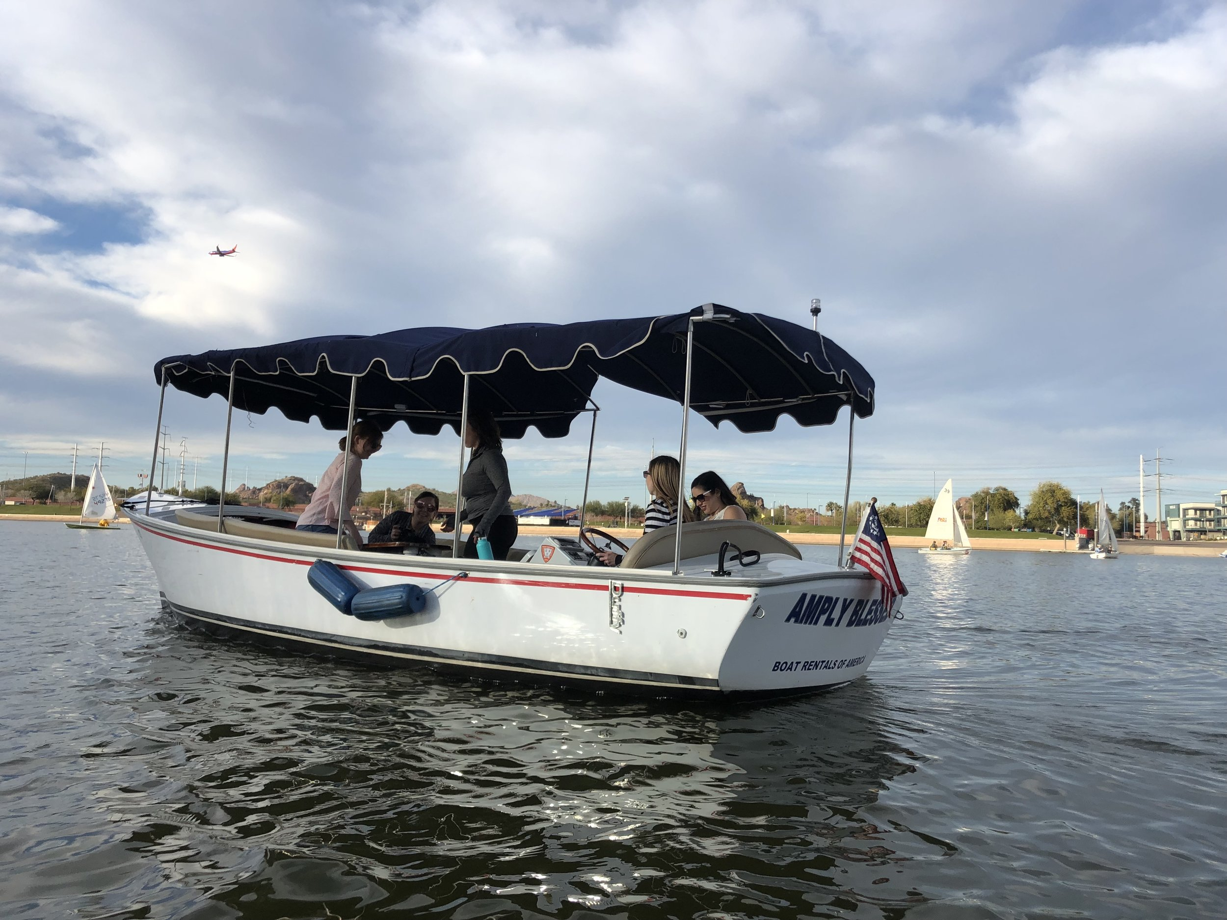 Electric boat on Tempe Town Lake