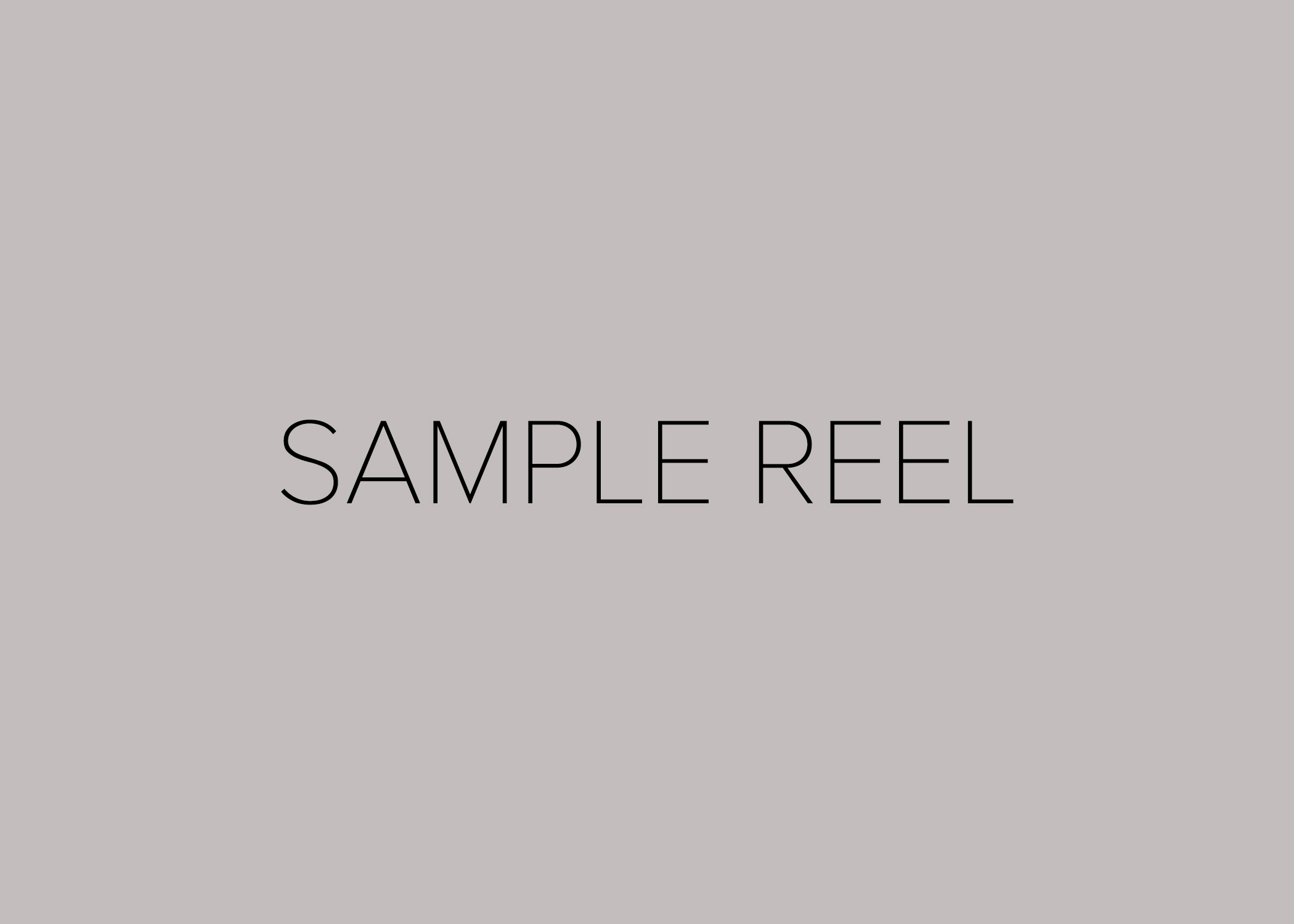 Copy of Cinematography Reel