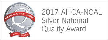 Silver Quality Award - Grand View Care Center is one of only 13 facilities in Wisconsin to have received this prestigious award since 2013. This award shows a commitment to continue to learn and develop effective approaches to drive continual improvement of performance and health care outcomes.