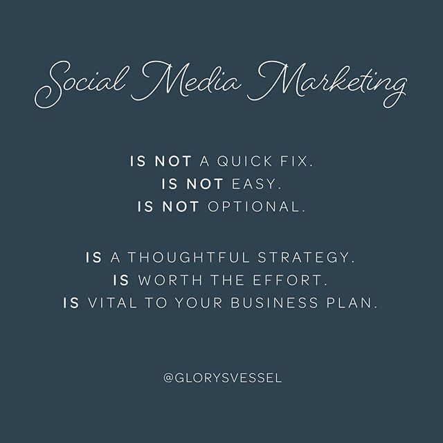 """Social media is here to stay and will continue to dominate how we consume, buy, share and relate. 🔸 • 73% of marketers believe that their efforts through social media marketing have been """"somewhat effective"""" or """"very effective"""" for their business (Buffer, 2019). 🔸 • 90.4% of Millennials, 77.5% of Generation X, and 48.2% of Baby Boomers are active social media users (Emarketer, 2019). 🔸 • An average of 2 hours and 22 minutes are spent per day per person on social networks and messaging (Globalwebindex, 2018). 🔸 Does your business, ministry or non-profit have a thoughtful and proven social media strategy in place that that is being executed efficiently?  If not, I'd love to work with you and share your story with a community of engaging listeners. Email me at ally@glorysvessel.com and let's work together on building a sustainable social media presence."""