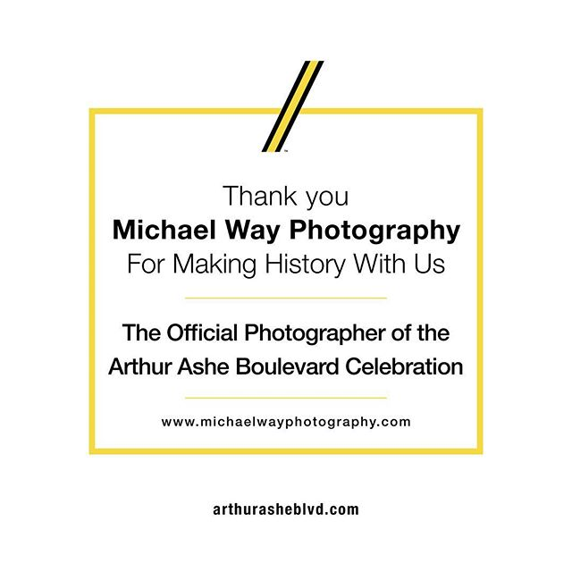"Thank you @michaelwayphotography for ""capturing"" history for us!"