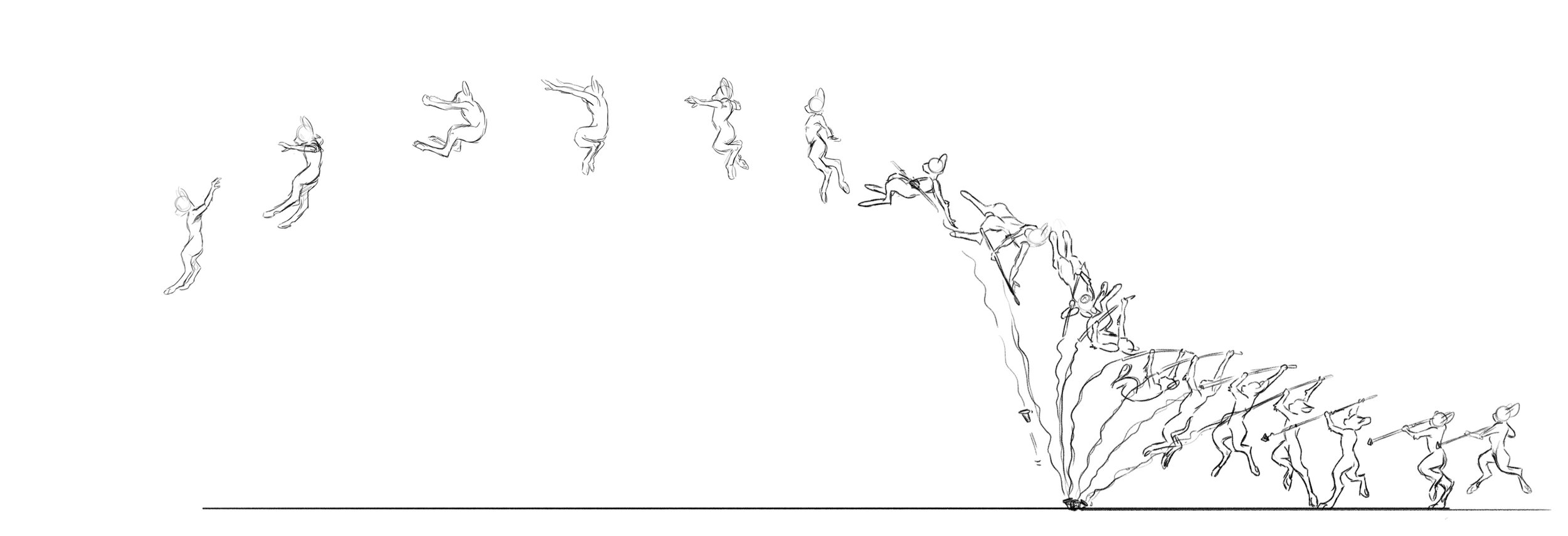 Concept   Running and pole vaulting keyframes