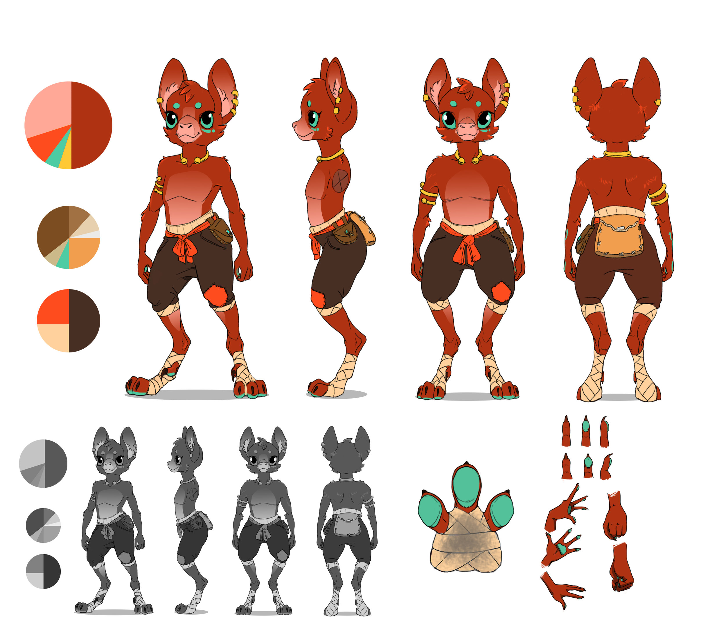 Final concept   The final character sheet for Altiia